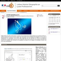 Lettres Histoire Géographie en Lycée Professionnel - Lettre P@sserelle n°2