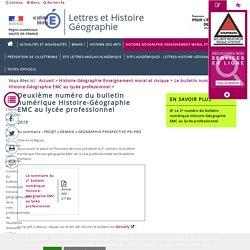 Le bulletin numérique Histoire-Géographie EMC au lycée professionnel > Deuxième numéro du bulletin numérique Histoire-Géographie EMC au lycée professionnel