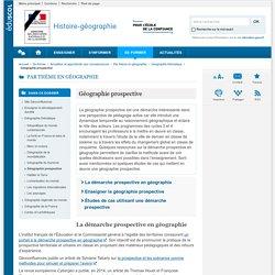 Géographie prospective-Histoire-géographie-Éduscol
