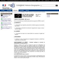 CAN@BAE Histoire-Géographie - ISIS the end, un news game pour prévenir la radicalisation