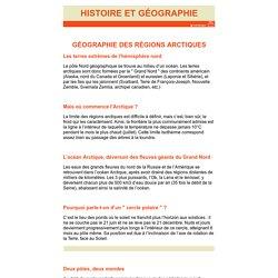 Géographie des régions arctiques