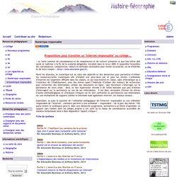 Histoire Géographie - Grenoble - Numérique responsable