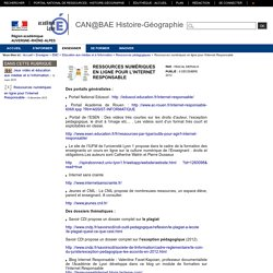 Histoire-Géographie-Lyon - Ressources numériques en ligne pour l'Internet Responsable