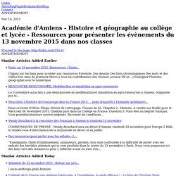 Académie d'Amiens - Histoire et géographie au collège et lycée - Ressources pour présenter les...