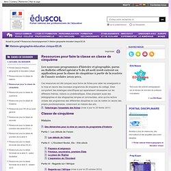 Histoire-géographie-éducation civique-ECJS - Ressources pour la classe de cinquième - ÉduSCOL