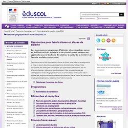 Histoire-géographie-éducation civique-ECJS - Ressources pour la classe de sixième
