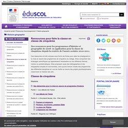 Histoire-géographie-éducation civique-ECJS - Ressources pour la classe de cinquième