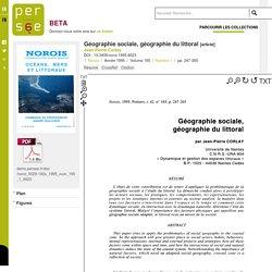 Géographie sociale, géographie du littoral - persee.fr