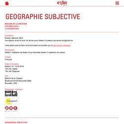 Géographie Subjective - Bruxelles Nord