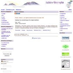 Histoire Géographie - Grenoble - Régimes totalitaires