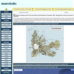 Carte géographique, touristique et plan des Terres Australes et Antarctiques Françaises, 984, Martin-de-Viviès
