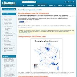 Zonage géographique pour les aides au logement - département & régions