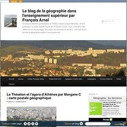 Le Théséion et l'agora d'Athênes par Mogane C : carte postle géographique