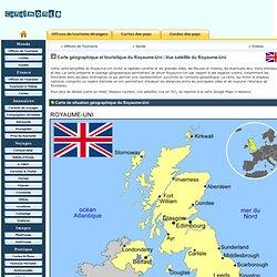 Carte géographique et touristique du Royaume-Uni, Londres. Géographie du Royaume-Uni