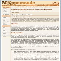 Inégalités géographiques de revenu en France métropolitaine