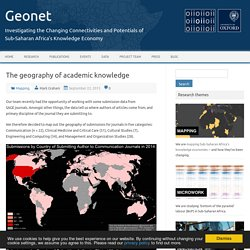 The geography of academic knowledge