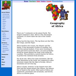 Geography - Africa for Kids