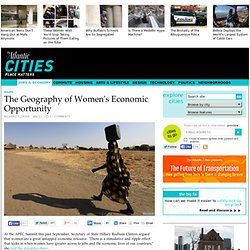 The Geography of Women's Economic Opportunity - Jobs & Economy