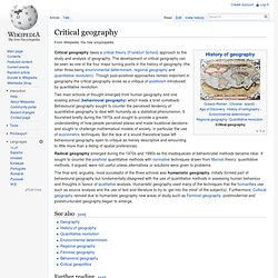 Critical geography