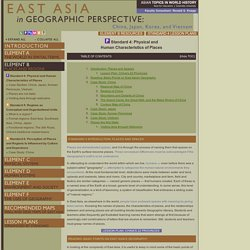 East Asia's Geography Through the 5 Themes, 6 Essential Elements, and 18 Geographic Standards