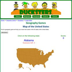 Geography Games: Map of the United States