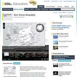 Asia: Human Geography