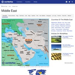 Middle East Map, Map of Middle East, Turkey, Iraq, Dubai Map