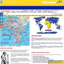 Map of Africa, Maps of African Countries, landforms and rivers, and Geography Facts