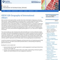 GEOG 128: Geography of International Affairs