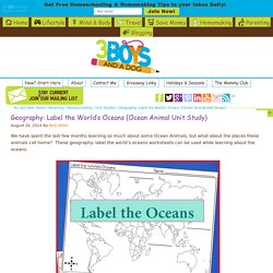 Geography: Label the World's Oceans