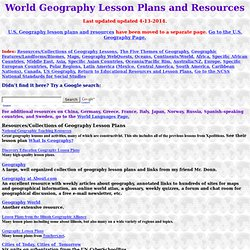 geography lesson plans and resources