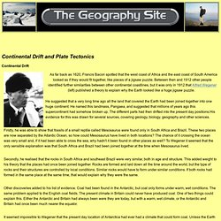 Geography Site: Plate Tectonics