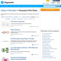 Free Geography mind map templates and mind mapping examples