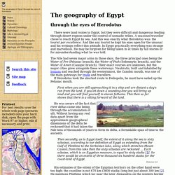 The geography of Egypt through the eyes of Herodotus