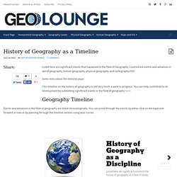 History of Geography as a Timeline - Geolounge