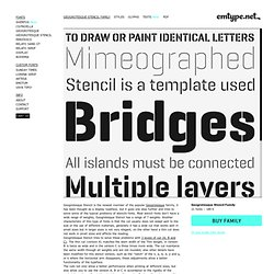 Geogrotesque Stencil | Emtype Foundry