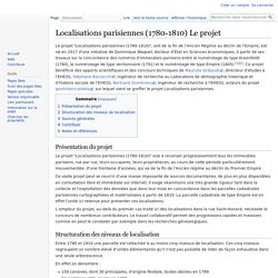 Localisations parisiennes (1780-1810) Le projet — Geohistoricaldata Wiki
