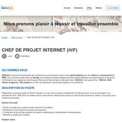 recrute - CHEF DE PROJET INTERNET (H/F)