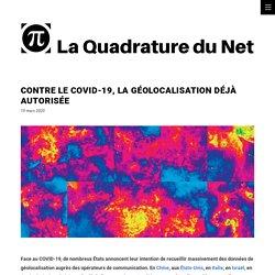 Contre le COVID-19, la géolocalisation déjà autorisée