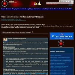 Géolocalisation dans Firefox (autoriser / bloquer)