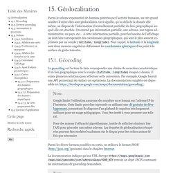 15. Géolocalisation — documentation Cours Python