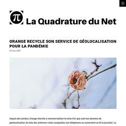 Orange recycle son service de géolocalisation pour la pandémie