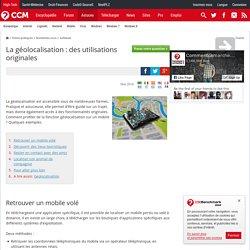 La géolocalisation : des utilisations originales