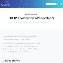IP Geolocation API Developer Documentation