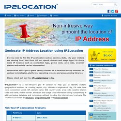 IP Address Geolocation to Identify Website Visitor's Geographical Location