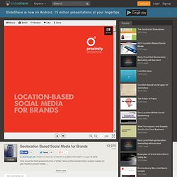 Geolocation Based Social Media for Brands