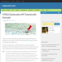 HTML5 Geolocation API Tutorial Latitude/Longitude API