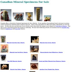 Geologic Desires: Canadian Specimens