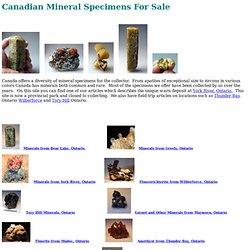 Geologic Desires: Canadian Specimens