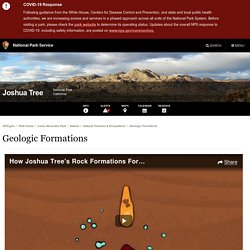 Geologic Formations - Joshua Tree National Park